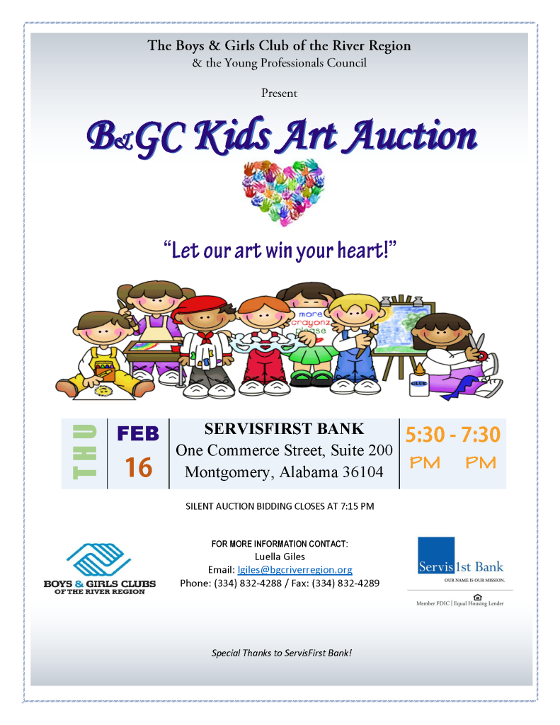 Kids Art Auction Flyer